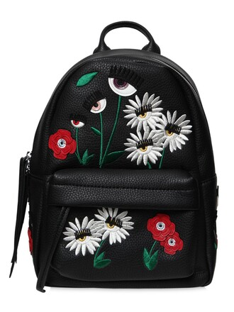 daisy backpack leather backpack leather black bag