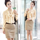 skirt,pencil skirt,light brown