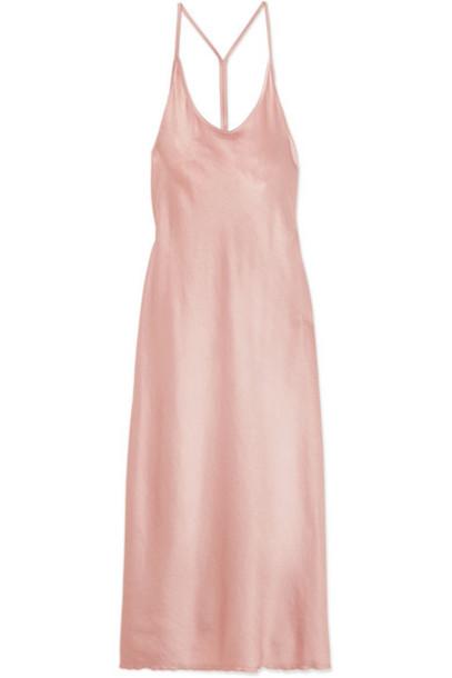 T by Alexander Wang dress midi dress midi pink satin