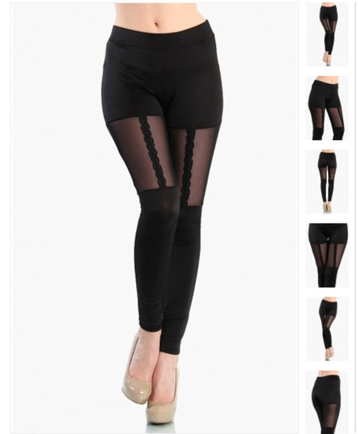 50ffaceff2e569 pants lace garter mesh black leggings garter leggings cute lace leggings