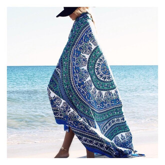 home accessory blue mandala hippie tapestry beach blanket wall decor home decor living room decoration idea christmas gift - cheap tapestry blue tapestries blue hippie bohemian dorm room queen bedding blanket