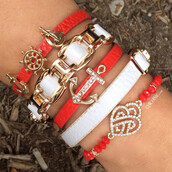jewelry,red,anchor,jewels
