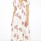 Floral garden stitched maxi dress