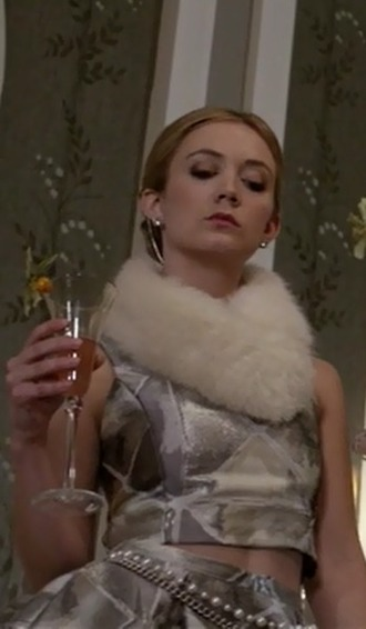 top billie lourd scream queens silver skirt
