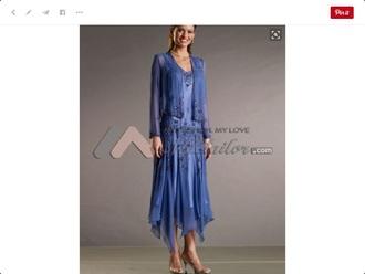 dress blue vintage mother of bride dress