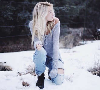 jeans light blue jeans ripped jeans annie marie sweater