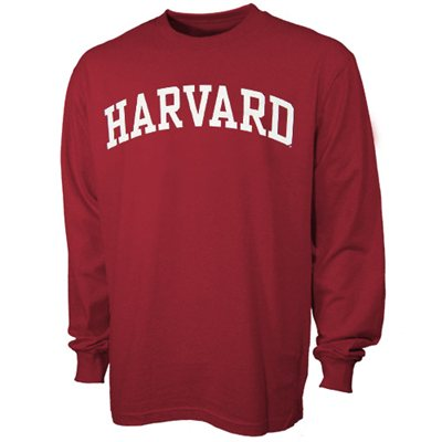 Harvard Crimson Vertical Arch Crimson Long Sleeve T-shirt - FansEdge.com