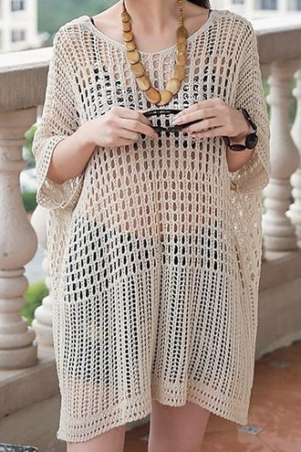 dress hollow cool beach shirt women casual charming stylish trendy ladylike loose-fitting beach dress summer dress openwork hollow dress shirt dress womens casual dress loose fitting