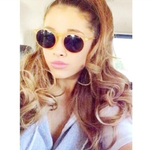 Ariana Grande Gold Glasses
