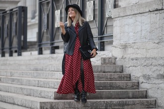 paris grenoble blogger jacket shoes black leather jacket fall outfits maxi dress