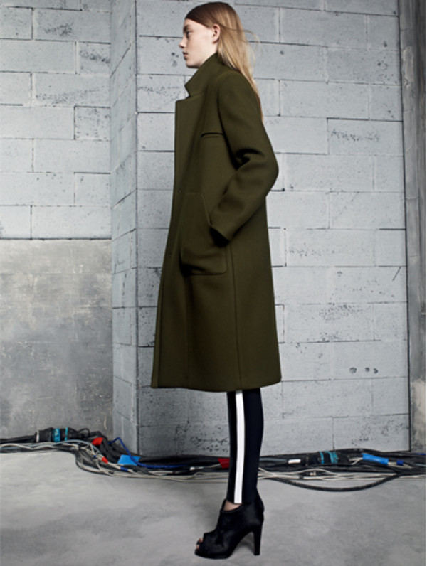 coat sandro fashion lookbook pants