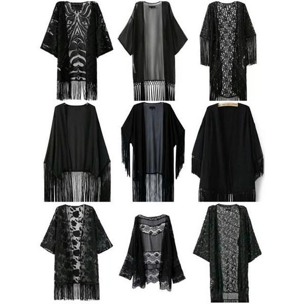top kimono fringe kimono black kimono black keys