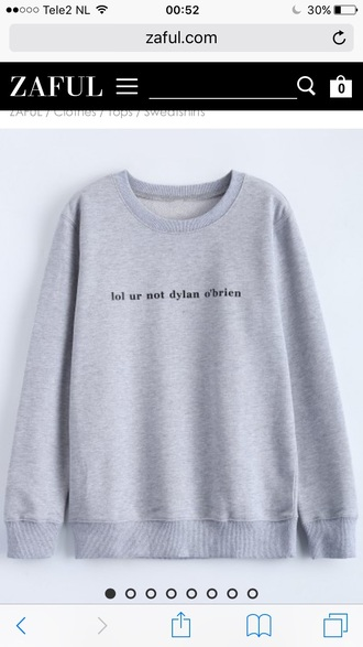 sweater grey fall outfits fall sweater long sleeves warm casual quote on it funny zaful
