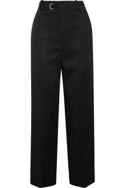 Joseph pants wide-leg pants black satin