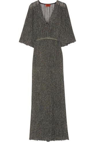 dress maxi dress maxi knit metallic crochet