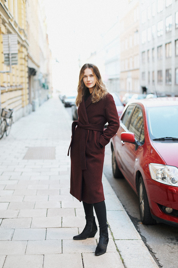 carolines mode blogger coat shoes jeans fall outfits ankle boots fall coat winter outfits