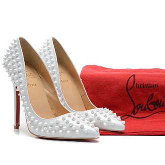 shoes louboutin red bottom heels white heels christian louboutin sale red pretty hot