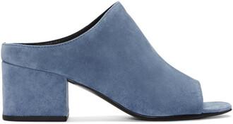 sandals blue suede shoes