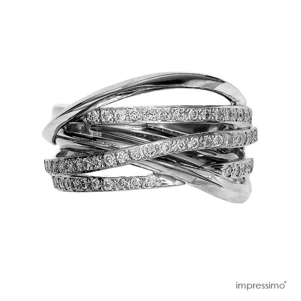 jewels white gold 50 brylantów impressimo.pl impressimo 50 diamonds ring pierścionek białe złoto