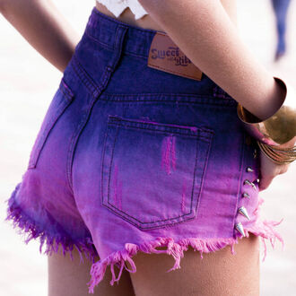 shorts pink blue purple girly cute high waisted shorts vintage festival sexy sweet