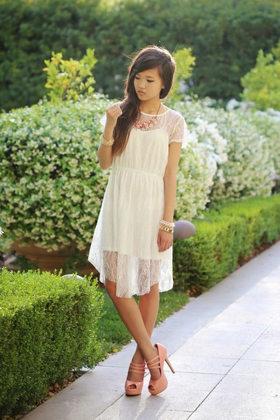 a flower child dress jewels shoes - Dress: A Flower Child, Jewels, Shoes - Wheretoget