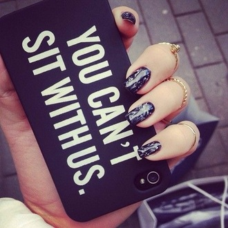 phone cover black white mean girls you can't sit with us iphone cover
