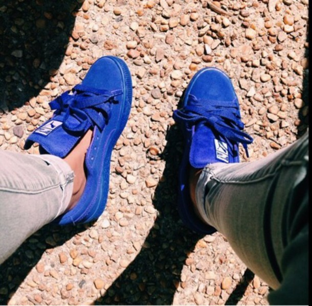 all blue puma shoes