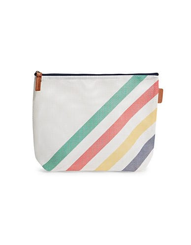 HBC Stripes Women's HBC x Sunnylife Multi Stripe Mesh Cosmetic Bag - Multi Stripes