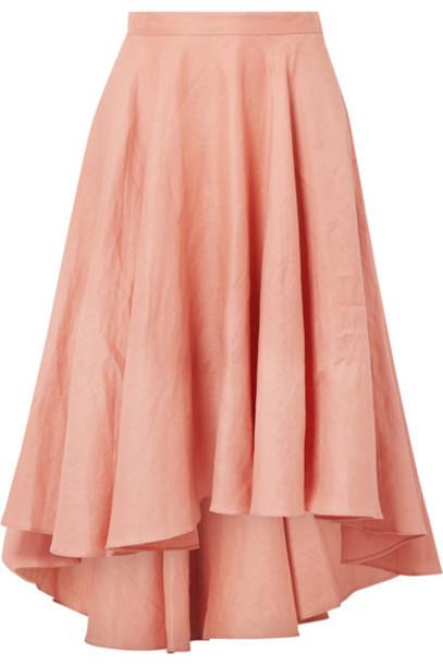 Miguelina skirt midi skirt pleated rose midi