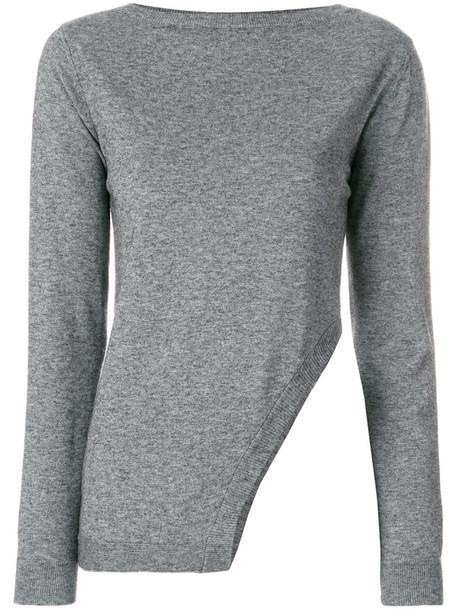 Eleventy jumper women wool grey sweater