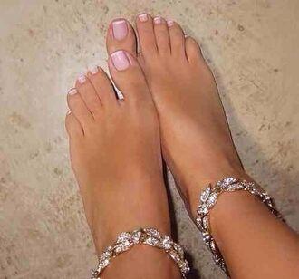 jewels ankle bracelet cute pretty black glitter little clothes girl feet jewels rhinestones