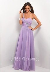 dress,prom dress,prom,purple,homecoming,long,floor length,wow,pleeeeeeeease,pretty,tumblr,amazing,one shoulder,purple dress,lavender prom dresses,lavender dress,bridesmaid,wedding dress,chiffon dress,lilac,long prom dress,diamonds,lavender