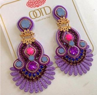 jewels earrings handmade colorful vintage