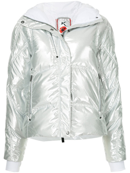 Kru jacket down jacket high women grey metallic