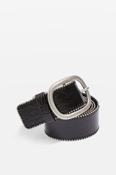 Topshop vinyl ball belt black