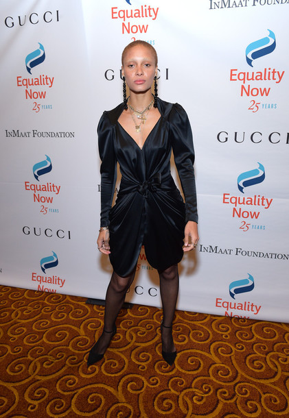 dress adwoa aboah model off-duty black dress