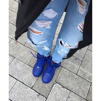 shoes nike air force nike air nike shoes blue shoes shirin