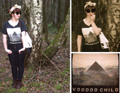 triangle,hipster,indie,black t-shirt,pants,t-shirt