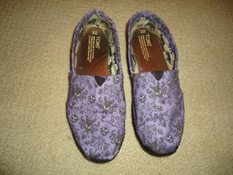 shoes purple toms