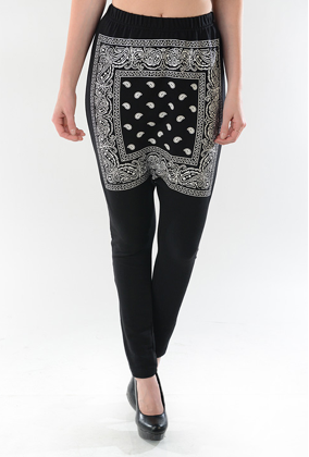 Bandana Front Pants - Bottoms