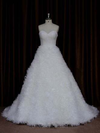 dress prom wedding wedding dress court train trendy lace ivory cool bride lace bridesmaid dress fluffy heart sweatheat tulle skirt