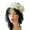 Wedding flower head piece, white flower crown, floral hair circlet, wedding head wreath
