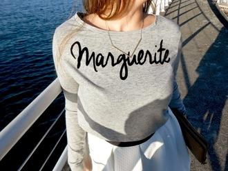 sweater marguerite pull