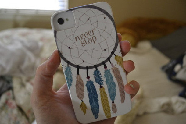 jewels iphone case white dreamcatcher phone cover