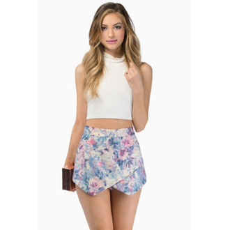 skirt floral colourful top
