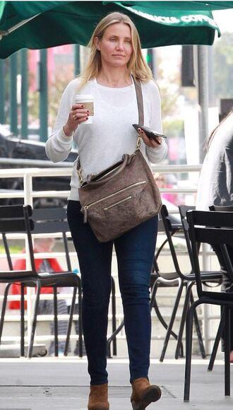 shoes jeans cameron diaz top bag
