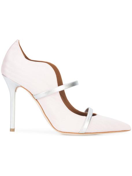 MALONE SOULIERS women pumps leather silk purple pink shoes