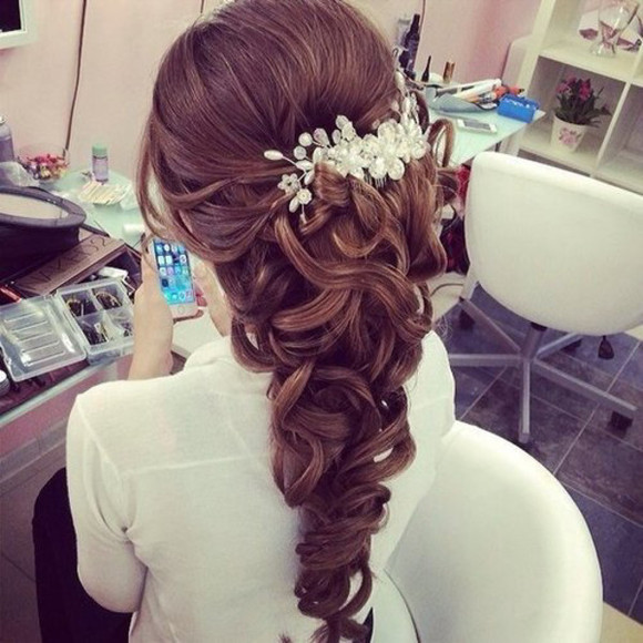 pearls diamonds floral hair accessories silver