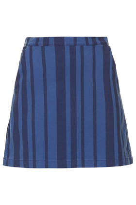 MOTO Stripe Denim Skirt - Topshop USA