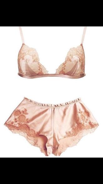 underwear bra bralette silk shorts silk sexy lingerie bra lingerie set lace lingerie chiffon lingerie sexy lingerie twopeice